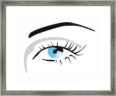 Human Eye Framed Print by David Nicholls