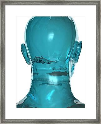 Human Head, Artwork Framed Print by Laguna Design