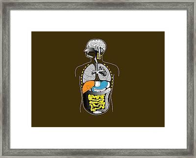 Human Internal Organs, Artwork Framed Print by Francis Leroy, Biocosmos