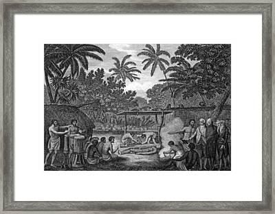 Human Sacrifice In Tahiti, Artwork Framed Print by Cci Archives