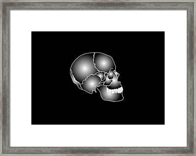 Human Skull Anatomy, Artwork Framed Print by Francis Leroy, Biocosmos