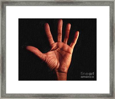 Humane Touch Framed Print by AHcreatrix
