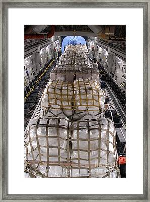 Humanitarian Aid Supplies Loaded Framed Print