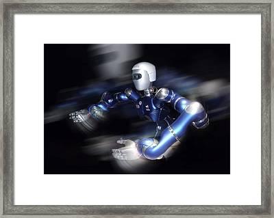 Humanoid Robot, Artwork Framed Print by Detlev Van Ravenswaay
