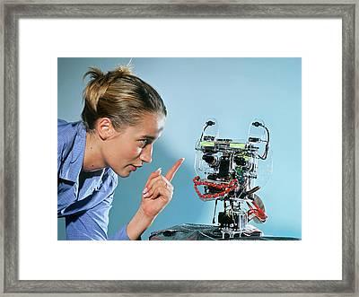 Humanoid Robot Framed Print by Volker Steger