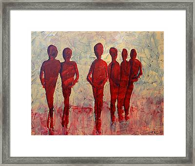 Humans Framed Print by Andrea Meyer