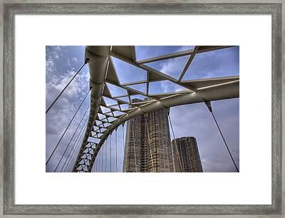 Humber Bay Bridge Framed Print