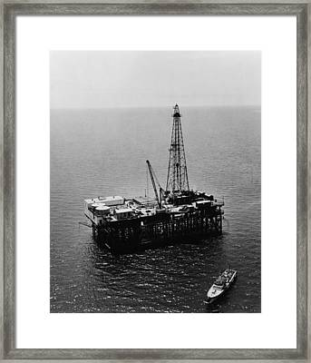 Humble Oil & Refining Company Offshore Framed Print by Everett