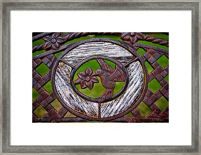 Hummingbird In Iron Framed Print by Christopher Holmes