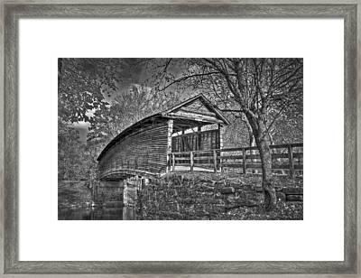 Humpback Bridge Bw Framed Print
