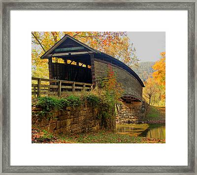 Humpback Covered Bridge Framed Print