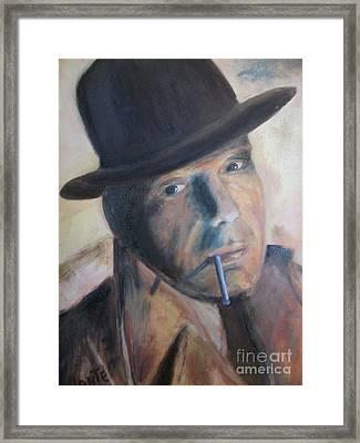 Humphry Bogart Framed Print by Paul Galante