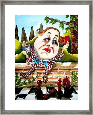 Humpty Dumpty Framed Print by Lucia Stewart