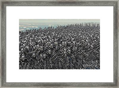 Hundreds Of Robots Running Wild Framed Print by Mark Stevenson