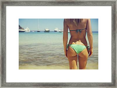 Hungarian Girl In Mallorca Framed Print by Andy Quarius