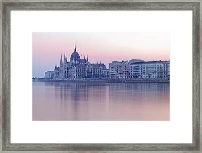 Hungarian Parliament Building Framed Print by Irene Becker Photography