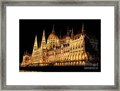 Hungarian Parliament Building Framed Print by Mariola Bitner