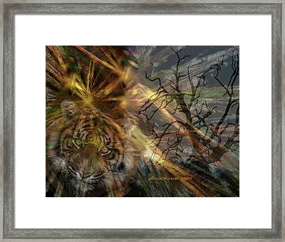 Framed Print featuring the photograph Hunter by EricaMaxine  Price