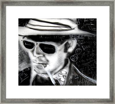 Hunter S Thompson American Dream  Framed Print by Jon Baldwin  Art
