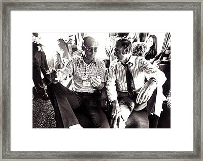 Hunter S. Thompson And George Mcgovern Framed Print