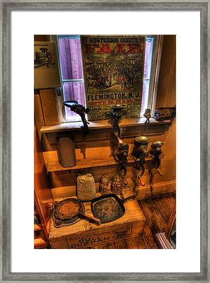 Hunterdon County Fair - General Store - Vintage - Nostalgia - Meat Grinders Framed Print