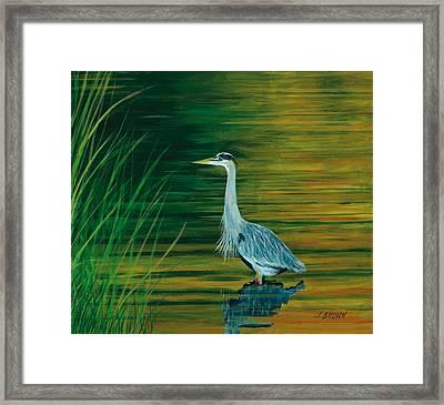 Hunting At Sunrise Framed Print