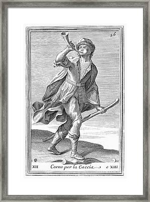 Hunting Horn, 1723 Framed Print by Granger