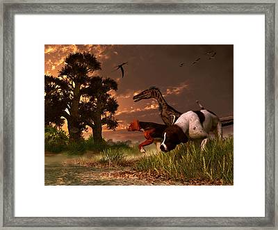 Hunting In The Age Gene Splicing Framed Print