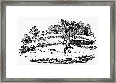 Hunting: Winter, C1800 Framed Print