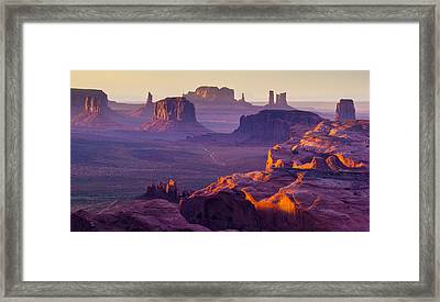 Hunt's Mesa Framed Print by Francesco Riccardo  Iacomino