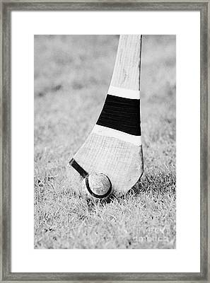 Hurling Stick And Ball Framed Print by Joe Fox