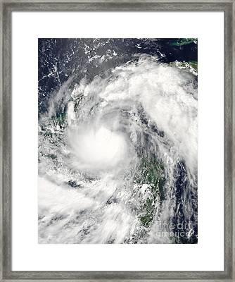 Hurricane Alex Framed Print by Stocktrek Images