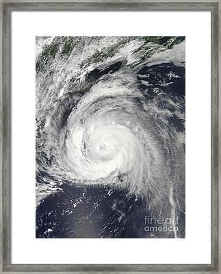 Hurricane Bill Off The East Coast Framed Print by Stocktrek Images