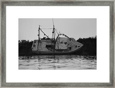 Framed Print featuring the photograph Hurricane Boat by Luana K Perez