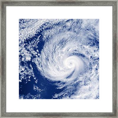 Hurricane Cosme Framed Print by Science Source