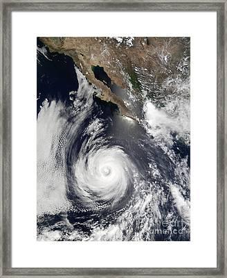 Hurricane Douglas Framed Print by Stocktrek Images