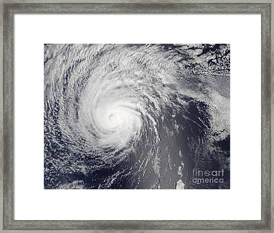 Hurricane Felicia Framed Print by Stocktrek Images