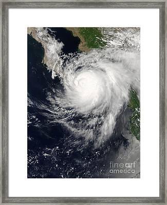 Hurricane Ignacio Framed Print by Stocktrek Images