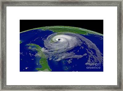 Hurricane Jeanne Hits Florida Framed Print