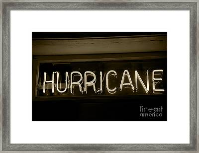 Hurricane Framed Print by Leslie Leda