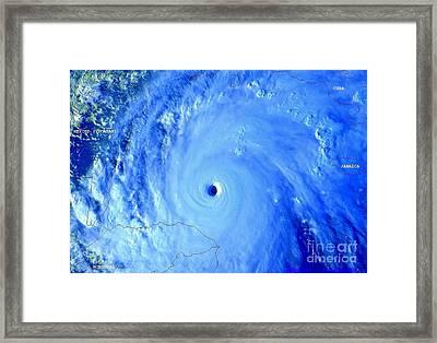 Hurricane Mitch 195 Mph Wind Framed Print by Padre Art