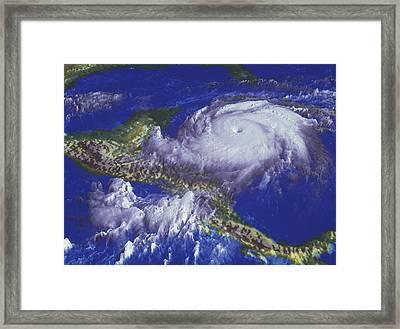 Hurricane Mitch Framed Print by Nasagoddard Space Flight Center