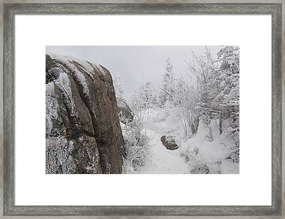 Hurricane Mt In Winter Framed Print