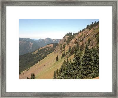 Hurricane Ridge 2 Framed Print by Fred Russell