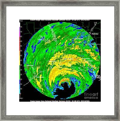 Hurricane Rita, Wfo Radar, 2005 Framed Print by Science Source