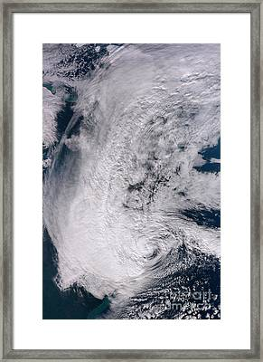 Hurricane Sandy Along The Northeastern Framed Print