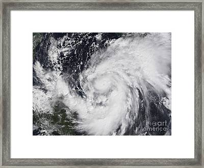 Hurricane Wilma In The Atlantic Framed Print by Stocktrek Images