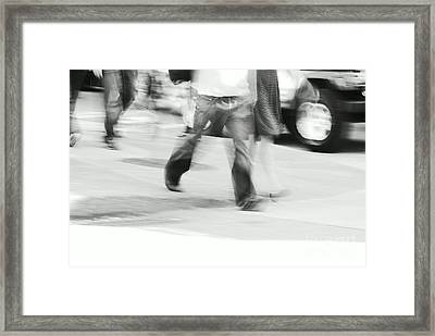 Hurry Up Framed Print by Aimelle