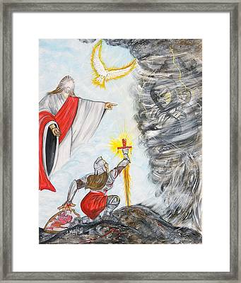 Hurt But Not Defeated Framed Print by Jesus Marin