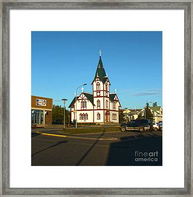 Husavik Iceland Church Framed Print by Gregory Dyer